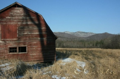 mt marcy and barn